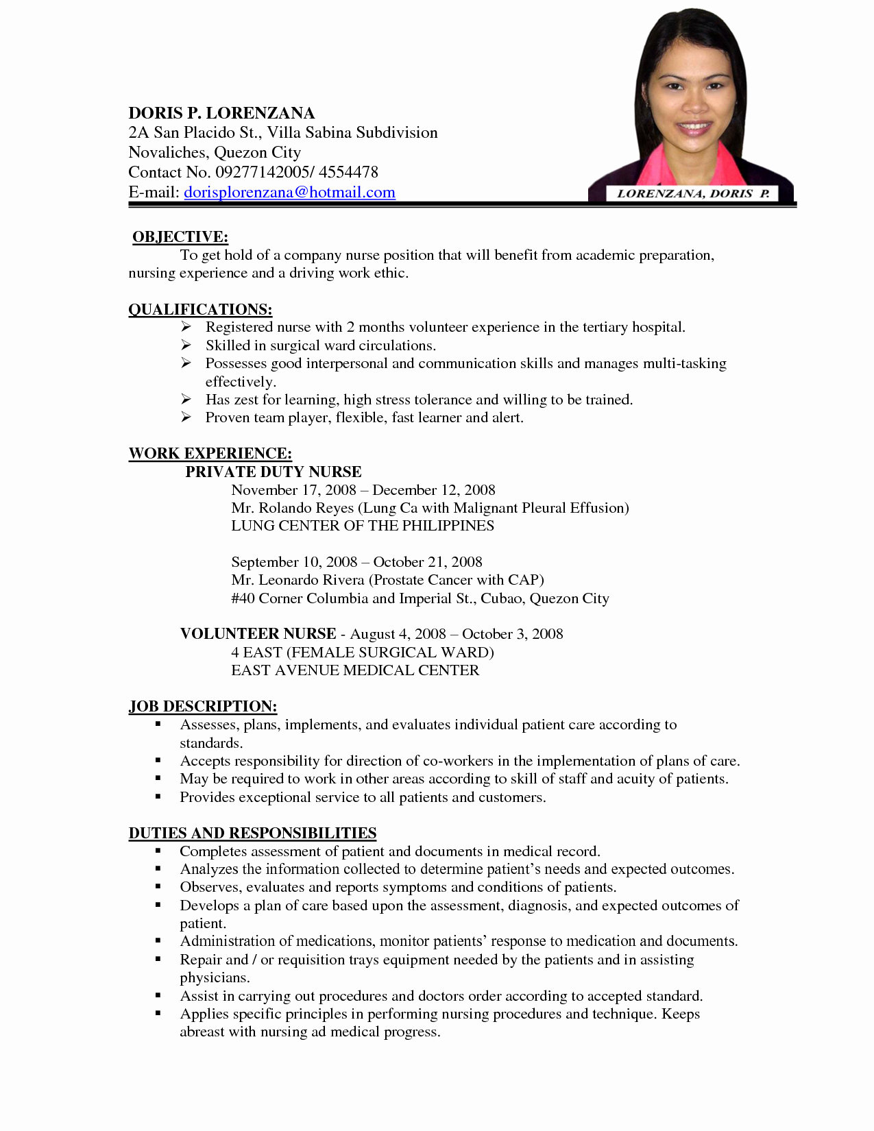 Curriculum Vitae for Nurses Fresh Nursing Curriculum Vitae Examples Google Search