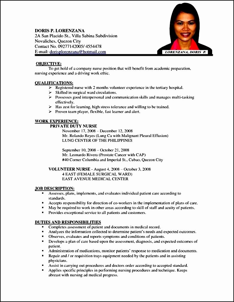 Curriculum Vitae for Nurses Luxury Curriculum Vitae Samples and format 12 formal
