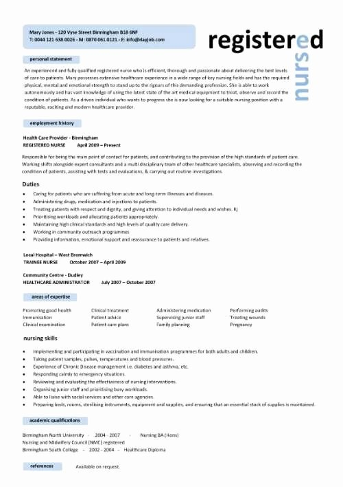Curriculum Vitae for Nurses Luxury Free Professional Resume Templates