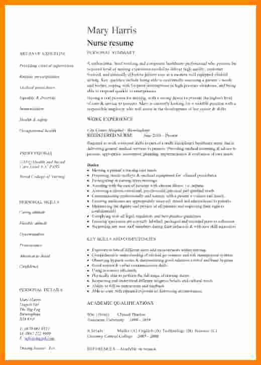 Curriculum Vitae for Nurses Unique 13 Curriculum Vitae Examples for Nurses