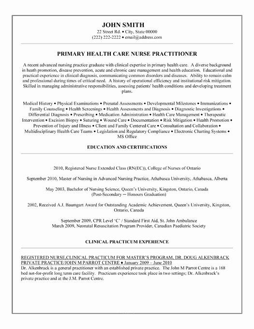 Curriculum Vitae for Nurses Unique Curriculum Vitae Apn Curriculum Vitae Examples