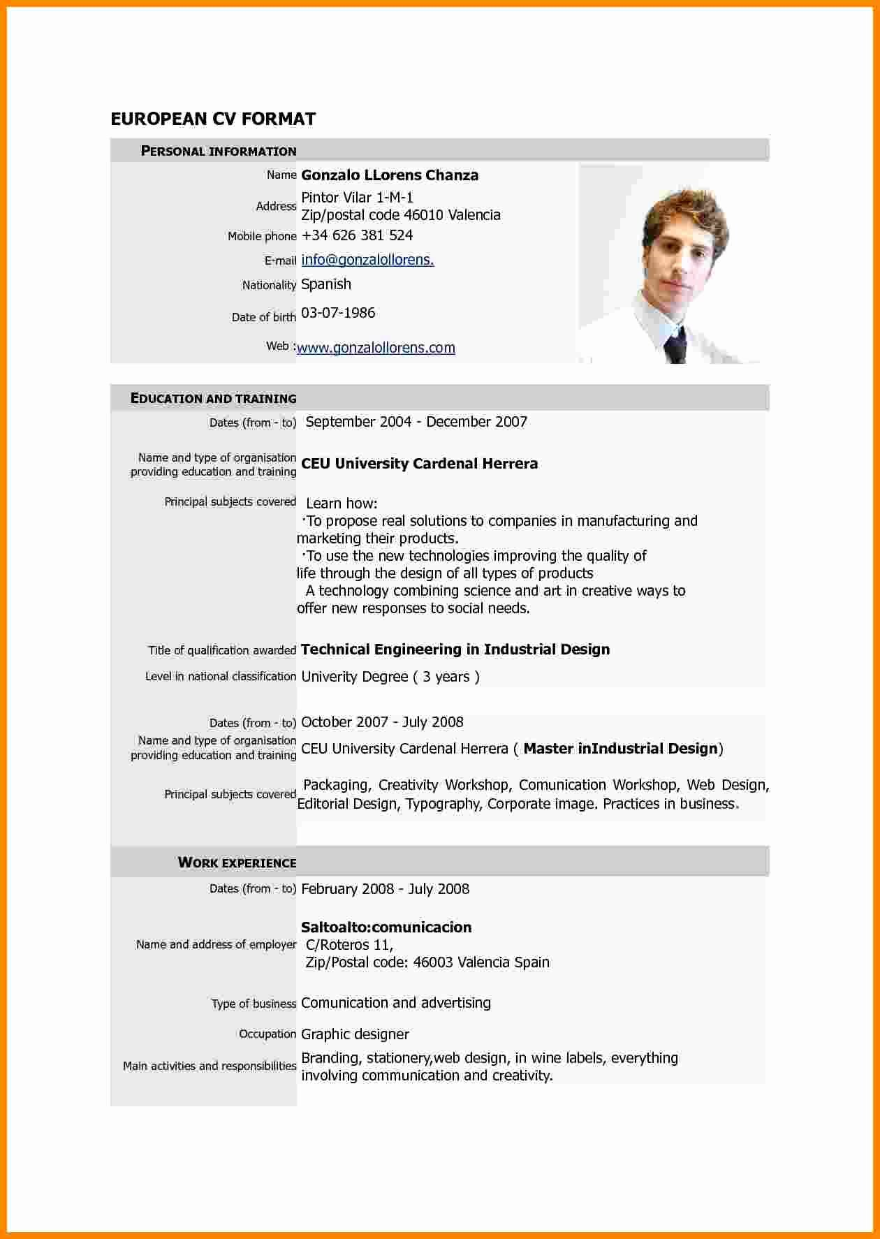 Curriculum Vitae Samples Awesome 7 Cv Resume Sample Pdf