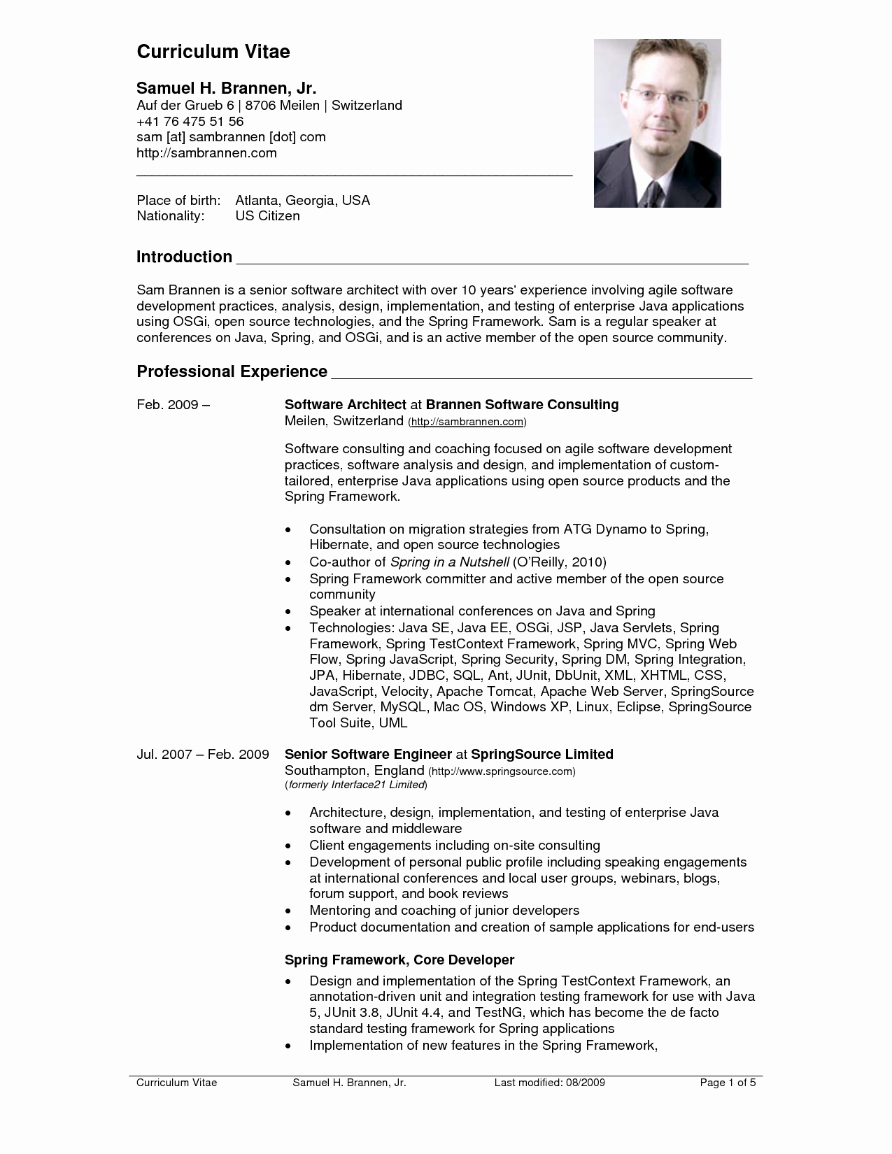 Curriculum Vitae Samples Best Of Resume Cv