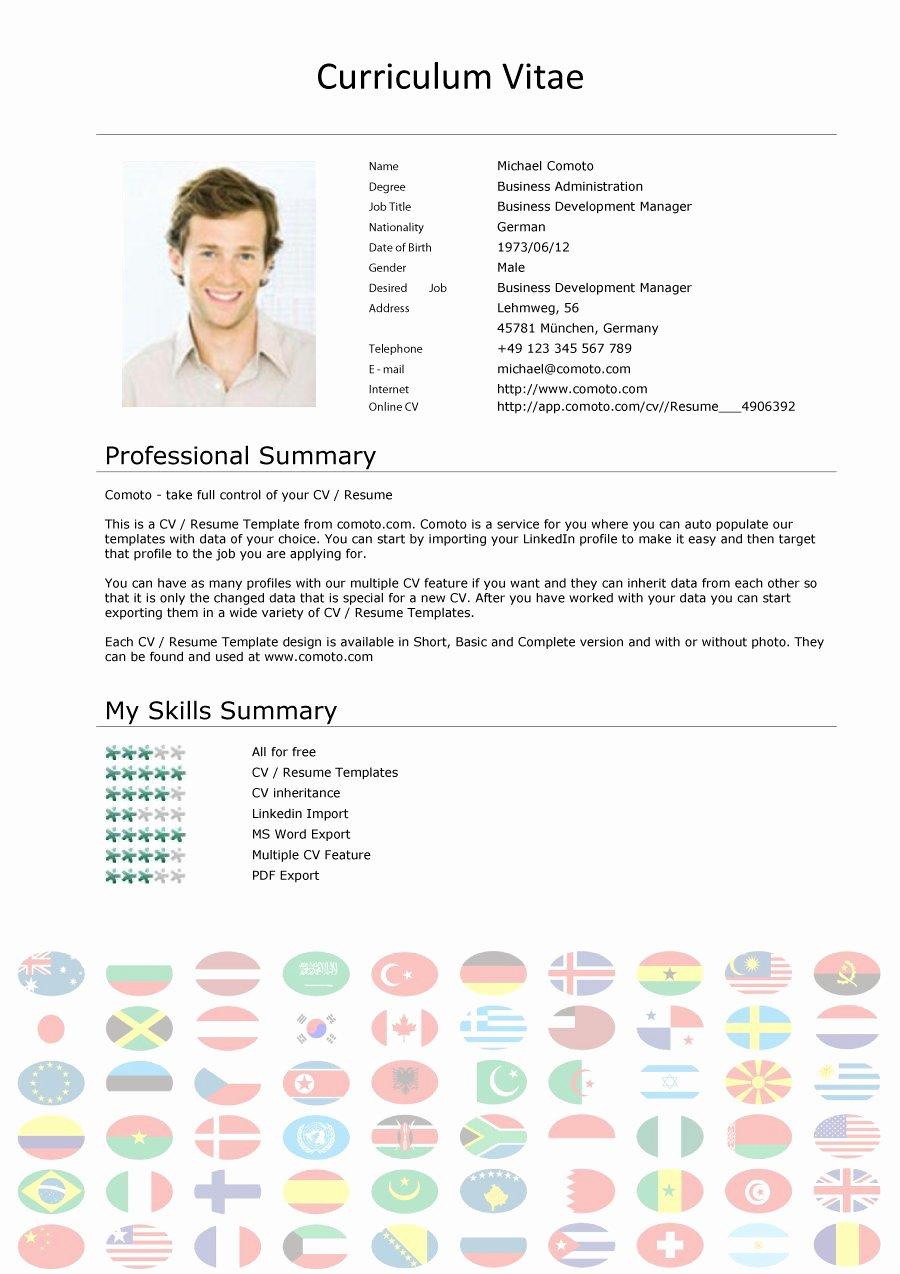 Curriculum Vitae Samples Luxury 48 Great Curriculum Vitae Templates & Examples Template Lab