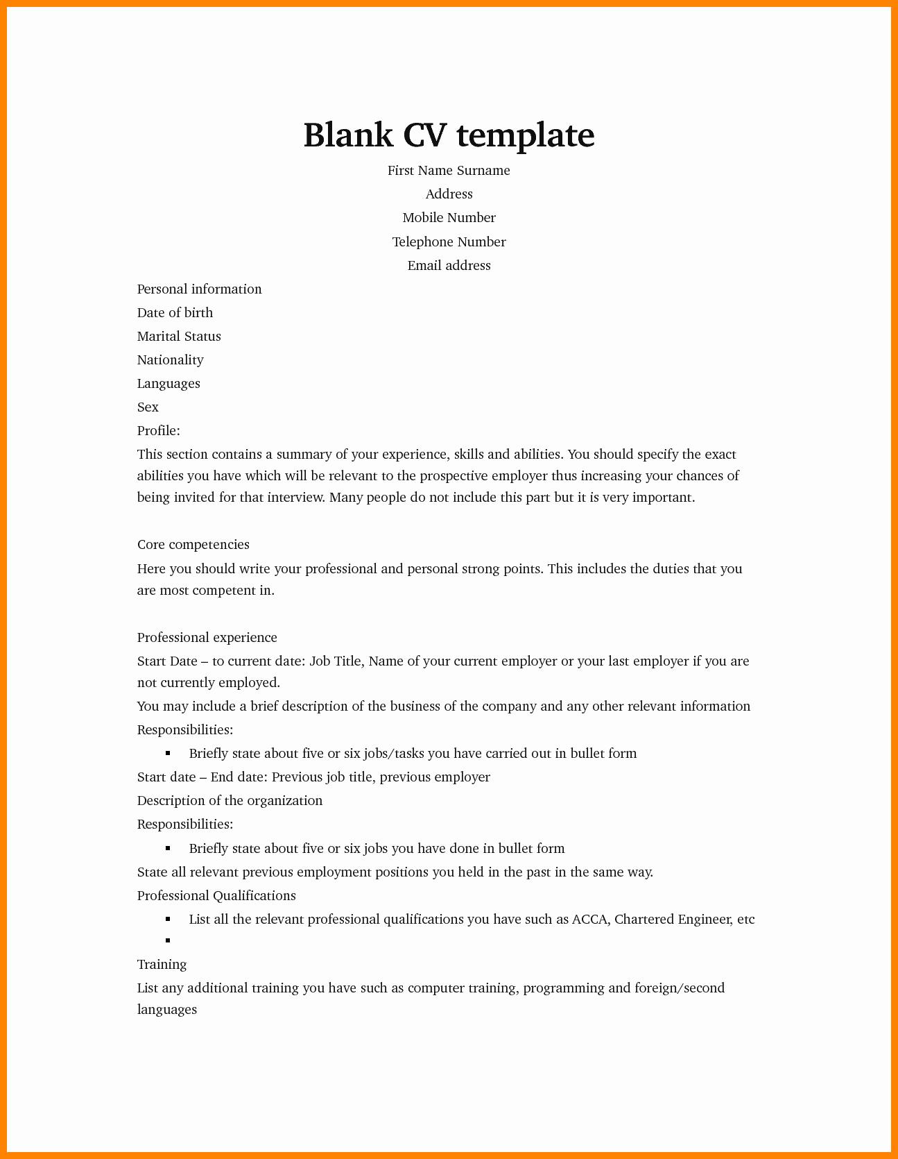 Curriculum Vitae Samples Unique 6 Curriculum Vitae Examples for Job