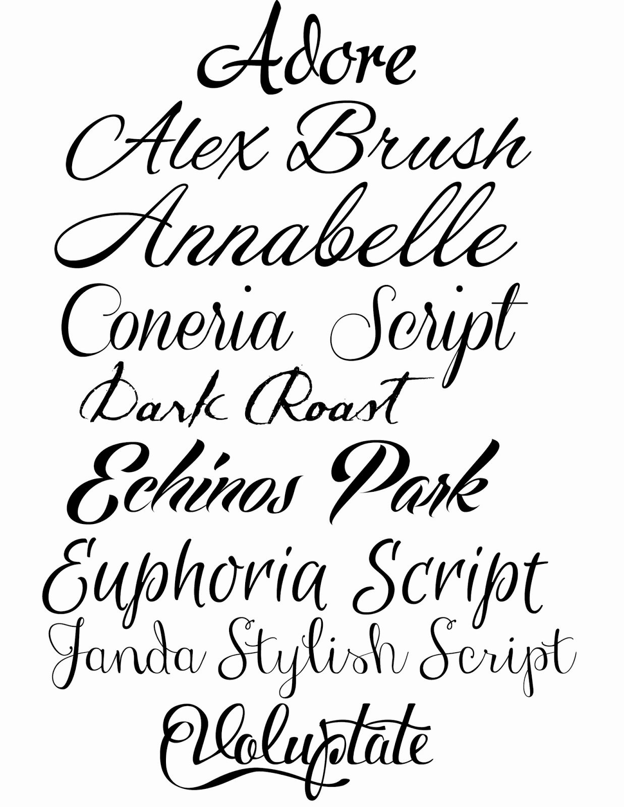 Cursive Handwriting Fonts Free Awesome Doodlecraft How to Fake Script Calligraphy