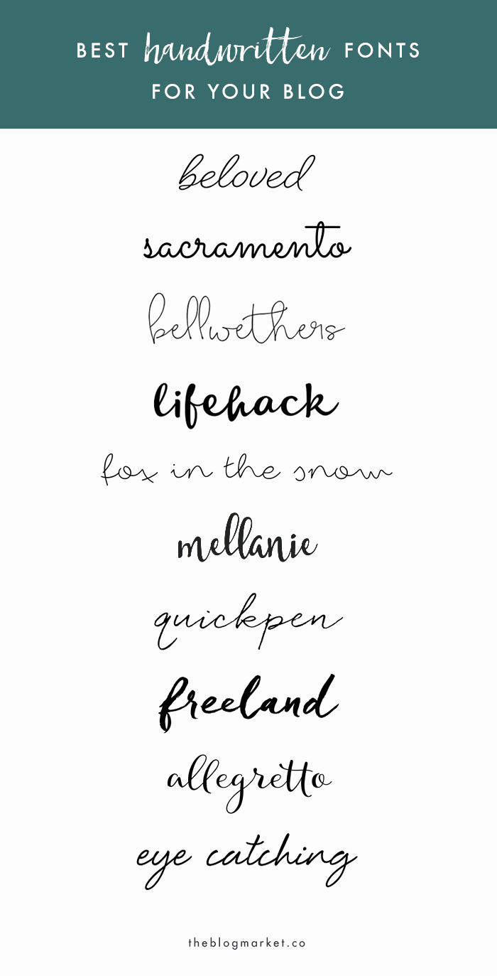 Cursive Handwriting Fonts Free Beautiful Best Handwritten Fonts for Your Blog the Blog Market