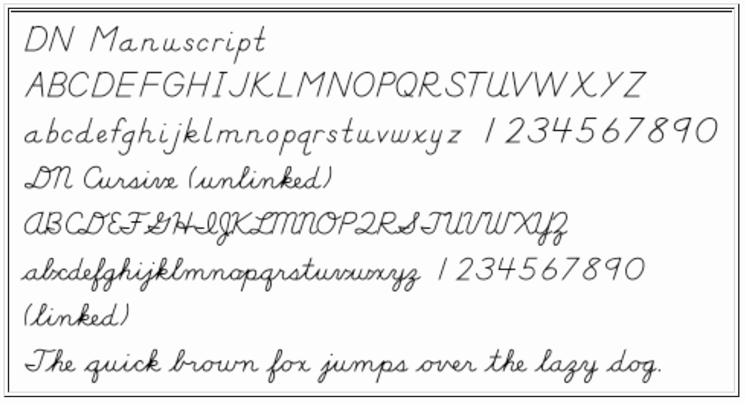 Cursive Handwriting Fonts Free Fresh Print and Cursive Handwriting Fonts for Educators