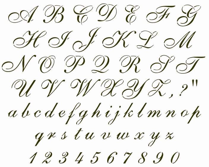 Cursive Handwriting Fonts Free Unique Cursive Font Sample Handwritten Samples