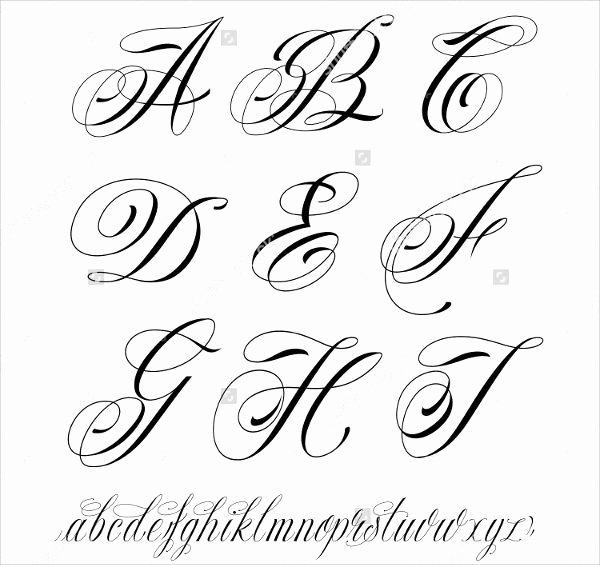 Cursive Handwriting for Tattoos New 9 Fancy Cursive Letters Jpg Download