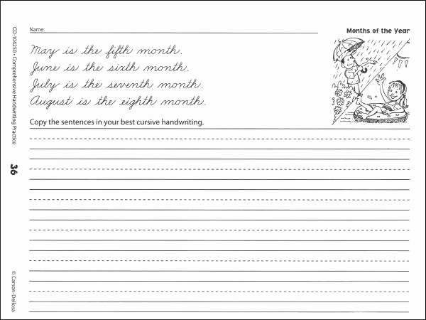 Cursive Handwriting Practice Elegant 10 Best Of Printable Cursive Sentence Worksheets