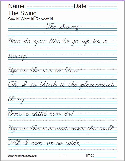 Cursive Handwriting Practice Fresh Printable Handwriting Worksheets ⭐ Manuscript and Cursive