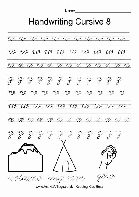 Cursive Handwriting Worksheets Best Of Handwriting Practice Cursive 8