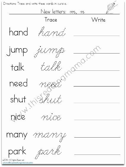 Cursive Handwriting Worksheets Inspirational Free Cursive Handwriting Worksheets