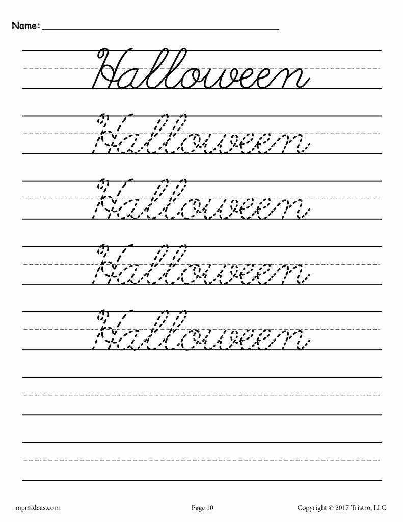 Cursive Handwriting Worksheets New 10 Free Cursive Handwriting Worksheets Seasons and
