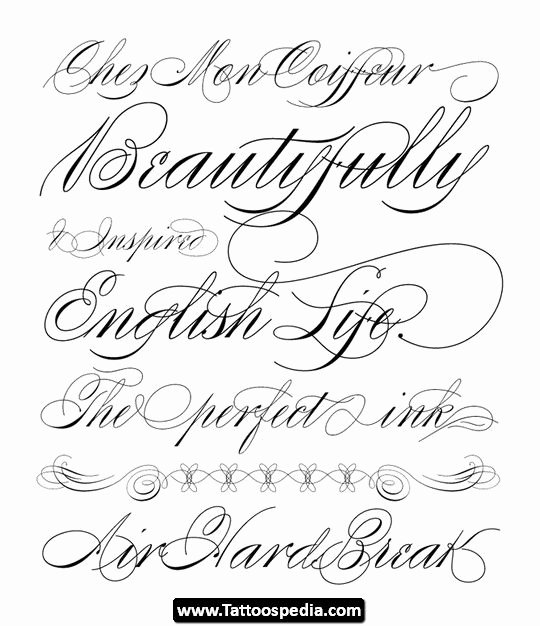 Cursive Letters for Tattoos Unique Tattoo Cursive Fonts 07 Tattoo Cursive Fonts 07