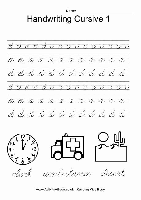 Cursive Writing Practice Sheets Awesome Handwriting Practice Cursive 1 More Sheets 8 or More