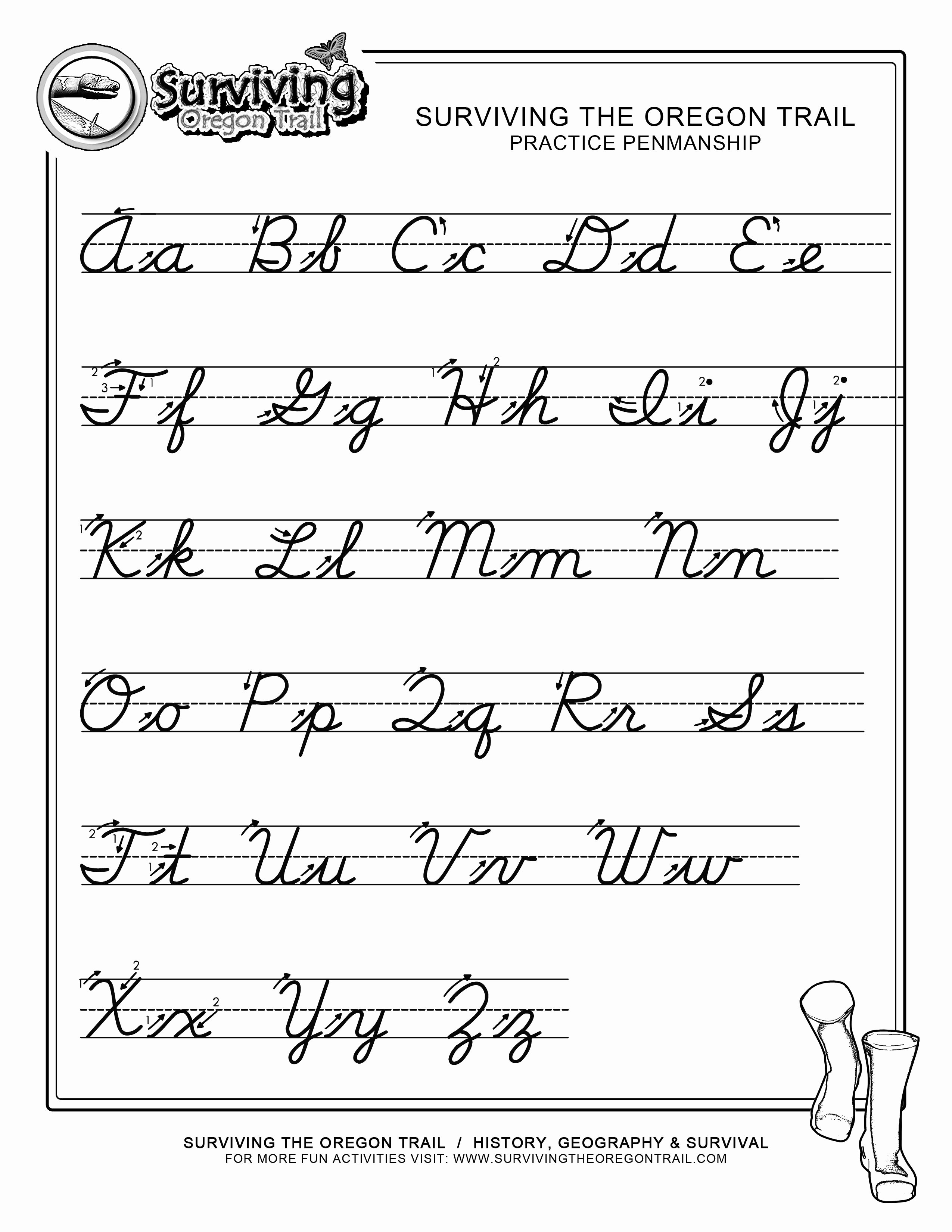 Cursive Writing Practice Sheets Lovely Free Print Alphabet Letter Worksheets