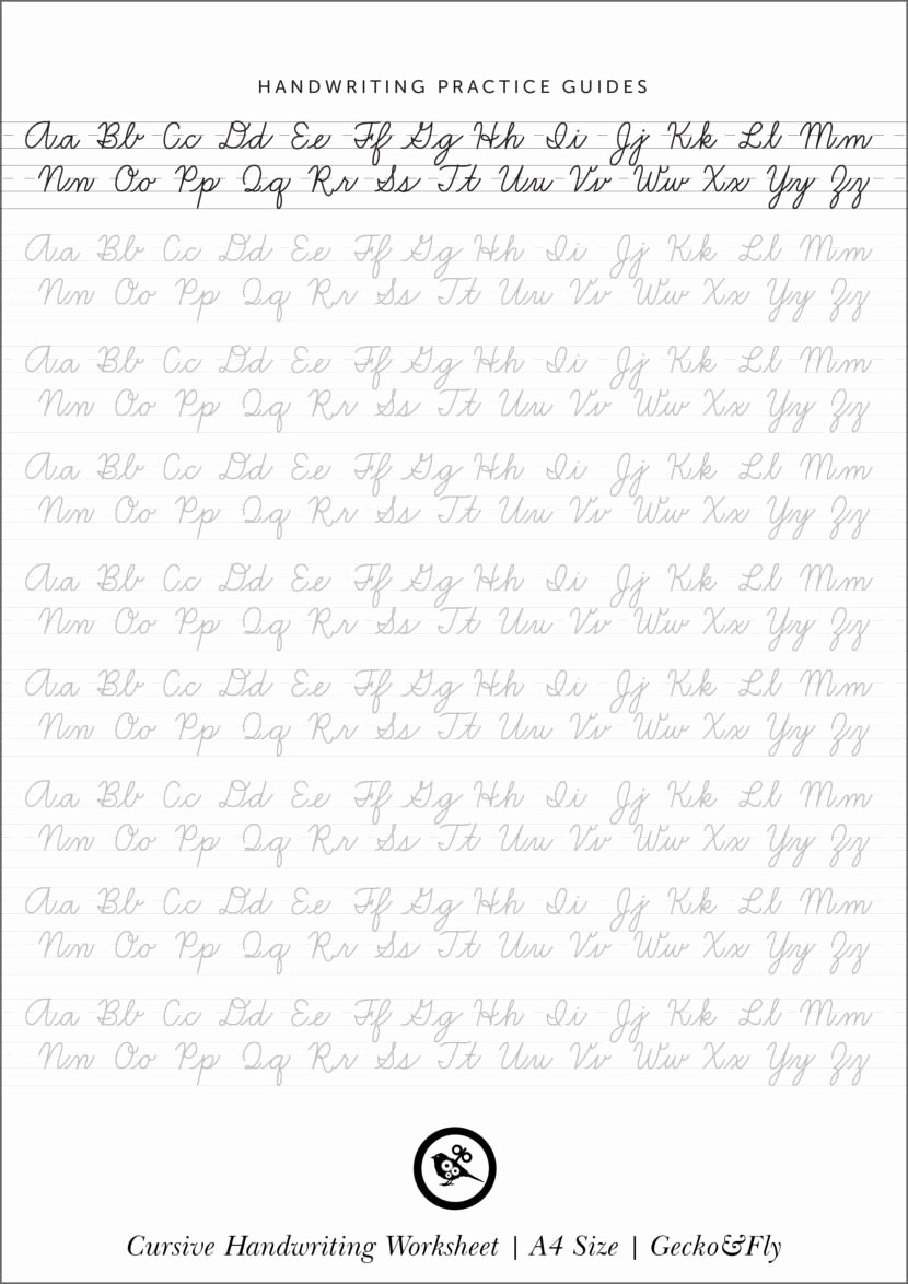 Cursive Writing Practice Sheets Unique 5 Printable Cursive Handwriting Worksheets for Beautiful