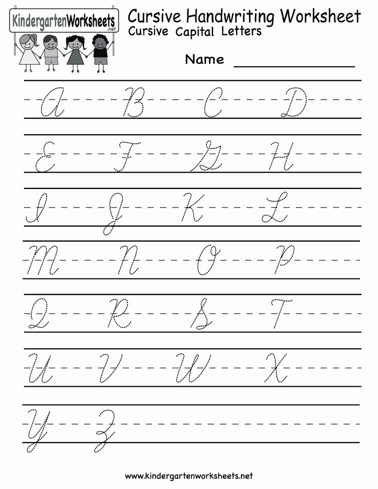 Cursive Writing Worksheet Awesome Kindergarten Cursive Handwriting Worksheet Printable