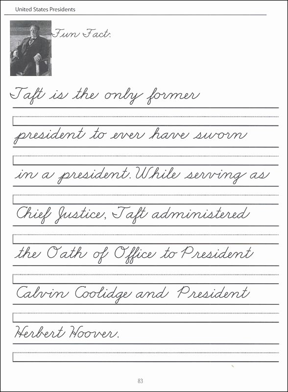 Cursive Writing Worksheet Best Of 45 United States Presidents Character Writing Worksheets