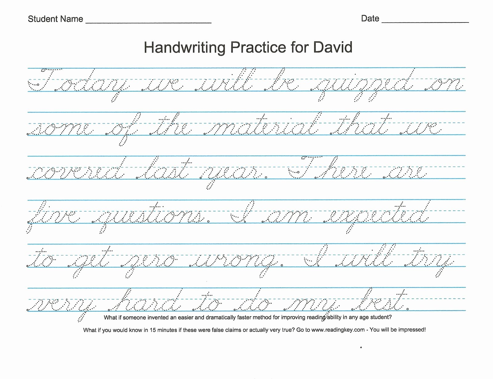 Cursive Writing Worksheet Inspirational Free Cursive Handwriting Worksheets