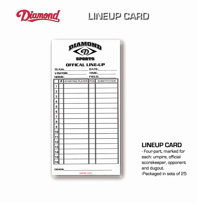 Custom Baseball Lineup Cards Best Of Baseball Dugout Lineup Card softball Baseball Lineup