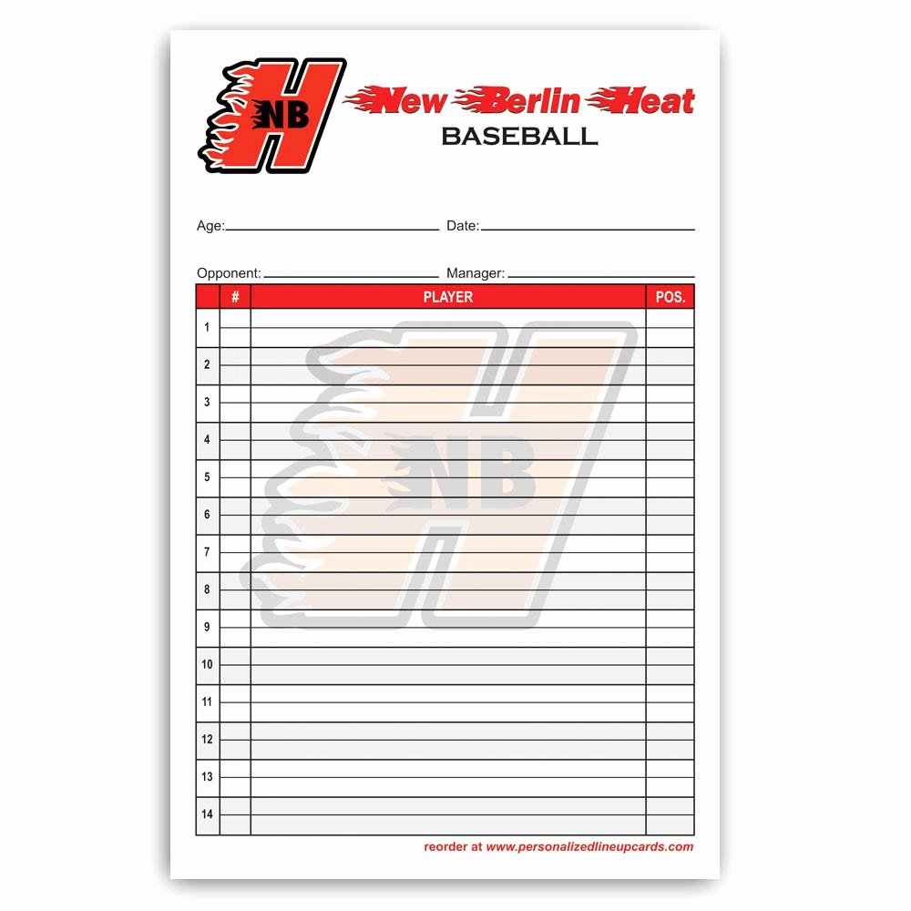 Custom Baseball Lineup Cards Luxury Lineup Cards Made Custom for Baseball and softball Teams