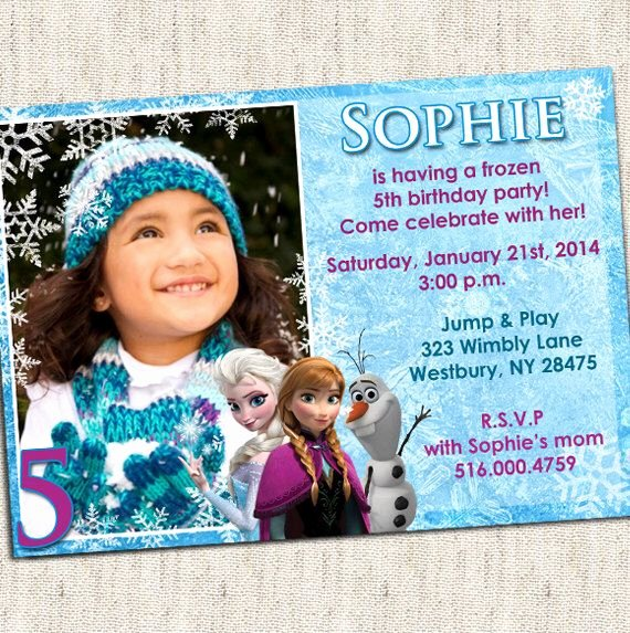 Custom Frozen Birthday Invitations Awesome 26 Best Frozen Birthday Party Invitations Images On