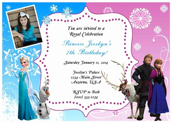 Custom Frozen Birthday Invitations Awesome Customized Frozen Birthday Invitations