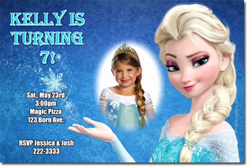 Custom Frozen Birthday Invitations Beautiful Elsa Frozen Birthday Party Invitation Ideas – Bagvania