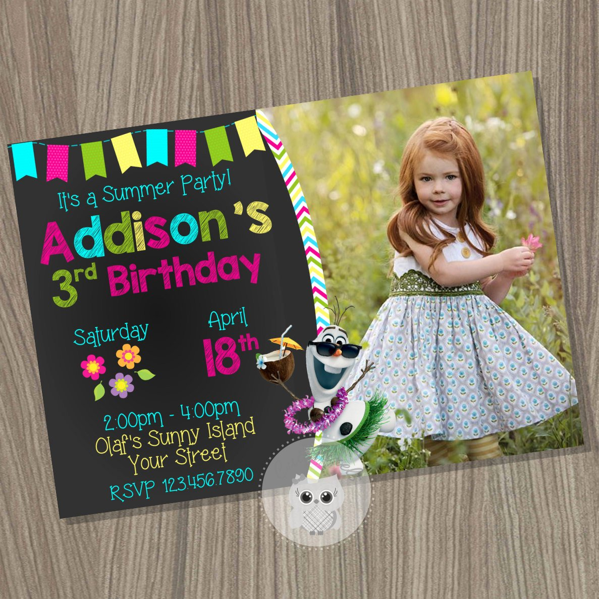 Custom Frozen Birthday Invitations Beautiful Frozen Summer Invitation Frozen Birthday Invitation Disney