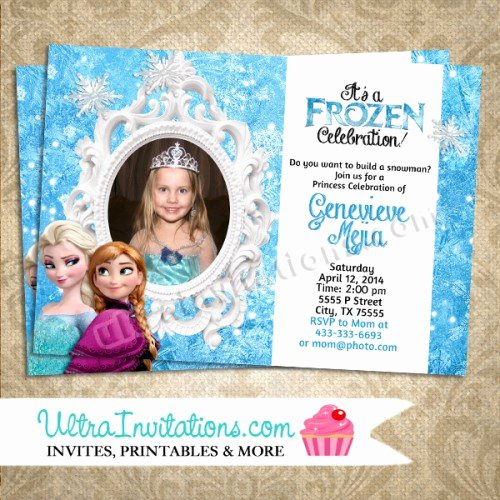 Custom Frozen Birthday Invitations Best Of Adorable Frozen Birthday Invitations Custom