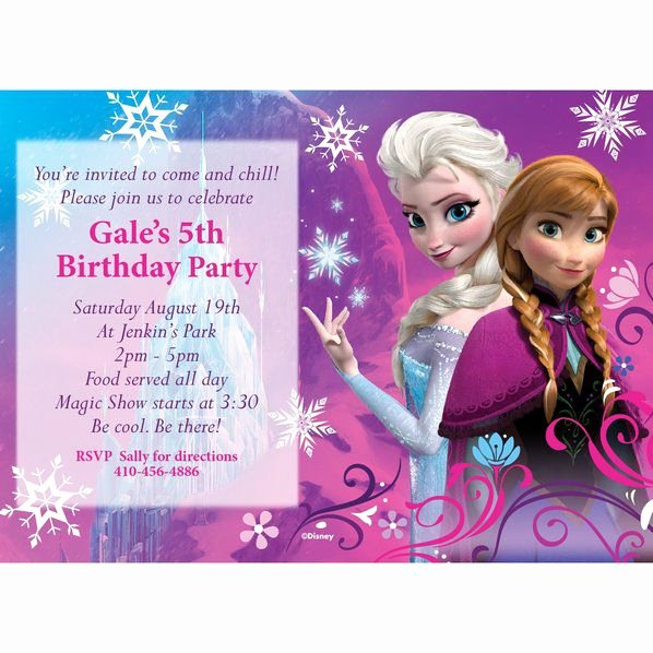 Custom Frozen Birthday Invitations Best Of Disney Frozen Personalized Invitation Custom Invitations