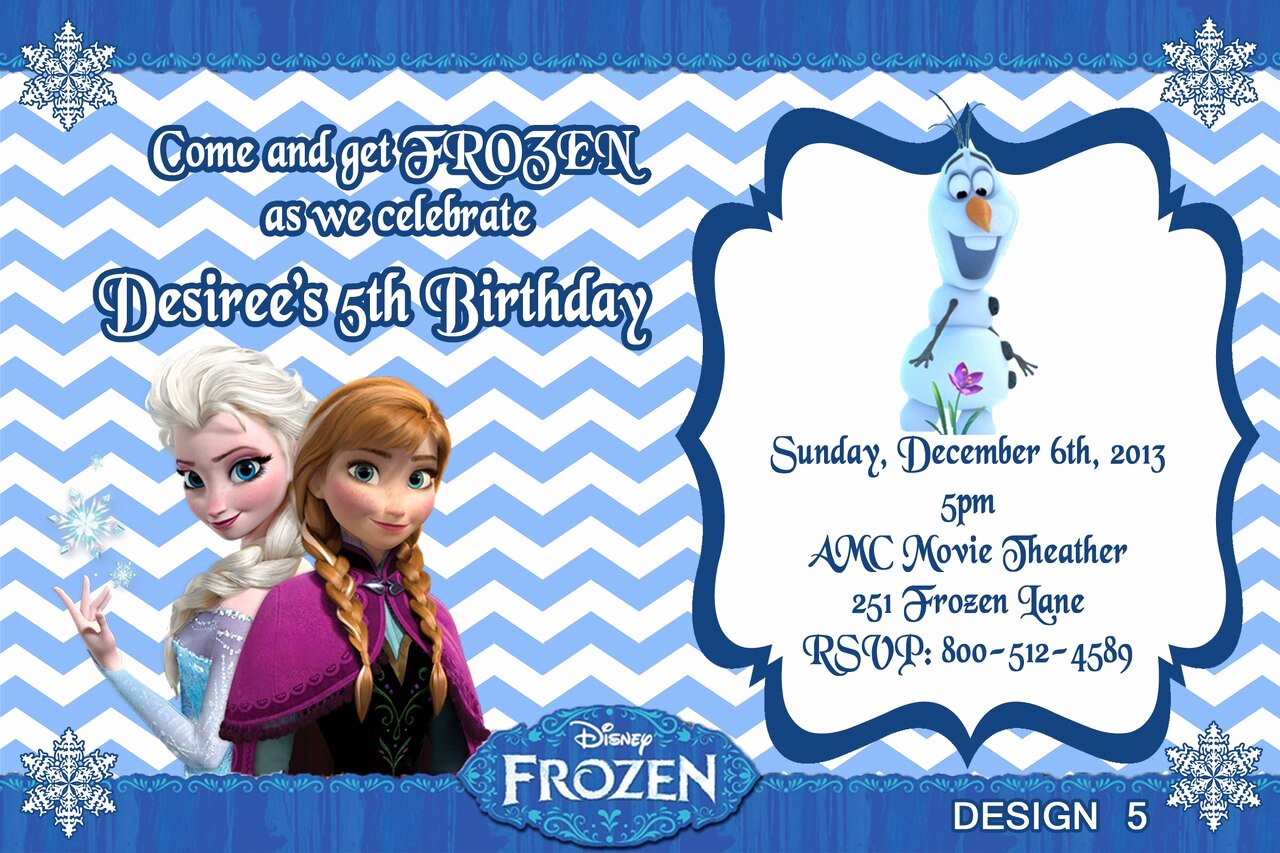 Custom Frozen Birthday Invitations Best Of Frozen Movie Custom Birthday Invitations