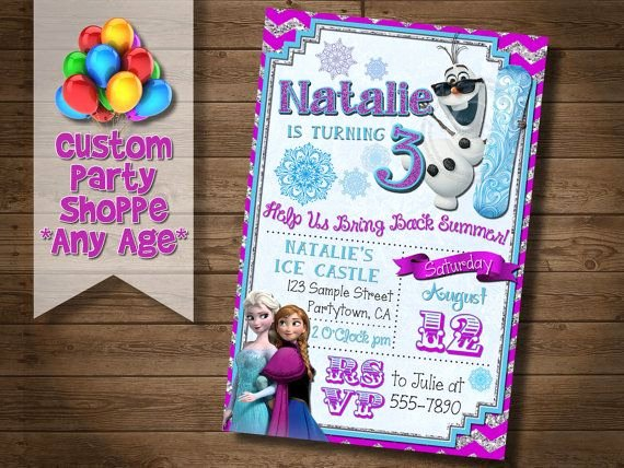 Custom Frozen Birthday Invitations Elegant Frozen Printable Invitation Custom Frozen Invitation for