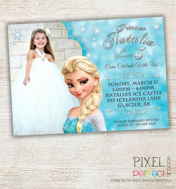 Custom Frozen Birthday Invitations Fresh Items Similar to Frozen Printable Invitation Custom