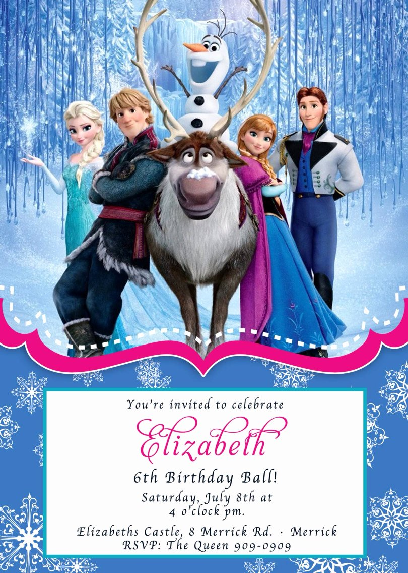 Custom Frozen Birthday Invitations Inspirational Custom Photo Invitations Frozen Birthday Invitation You 5x7 or