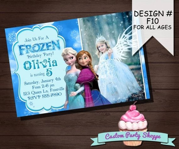 Custom Frozen Birthday Invitations Inspirational Frozen Custom Invitations Cobypic