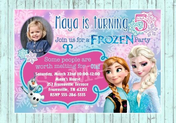 Custom Frozen Birthday Invitations Inspirational Items Similar to Frozen Birthday Invitation Custom