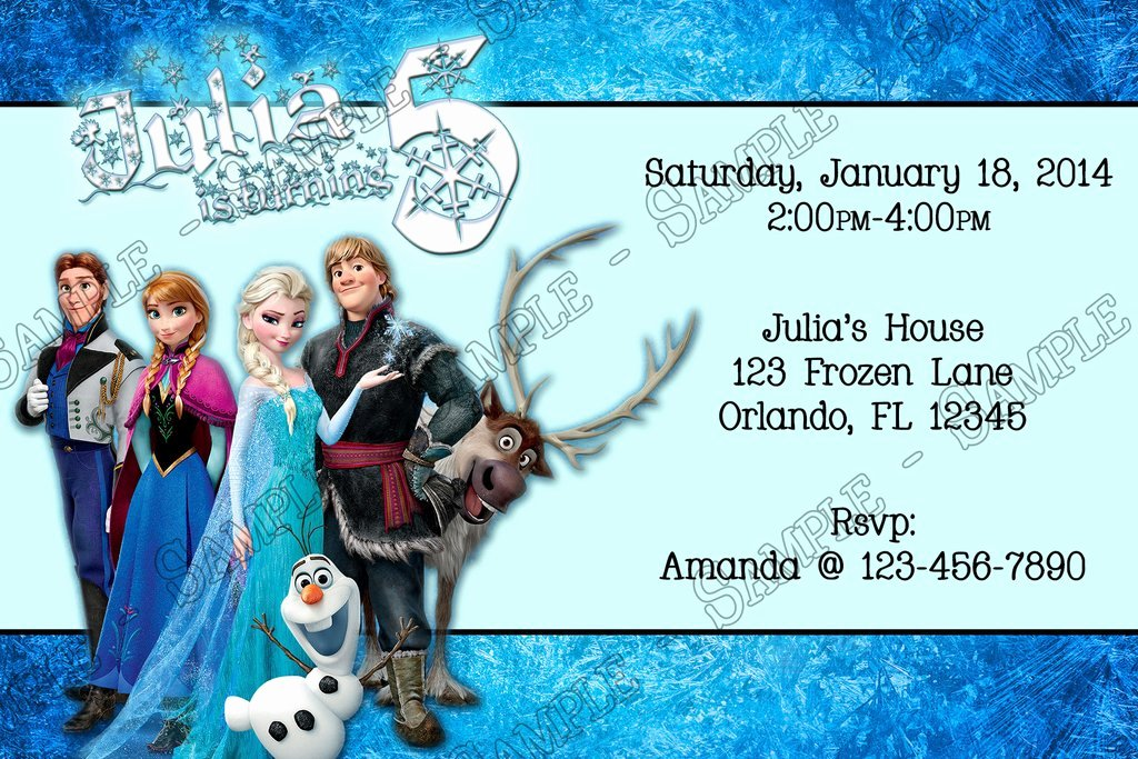 disneys frozen movie birthday party invitation custom ref=deocwp