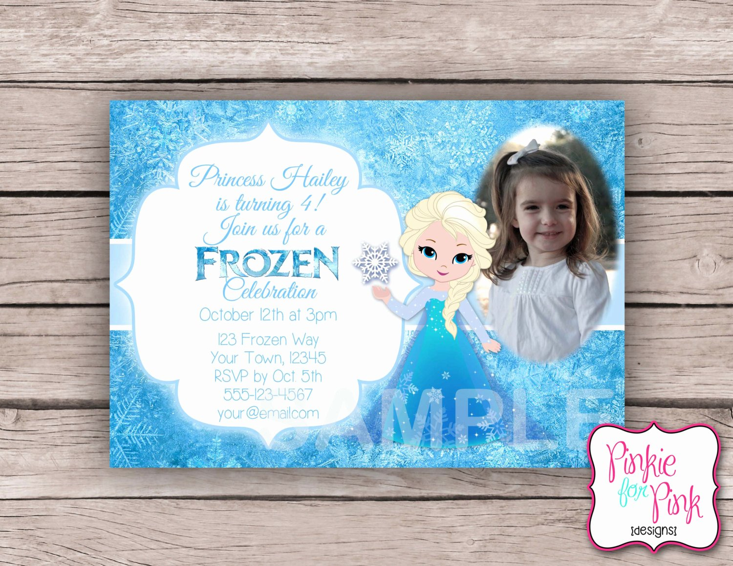 Custom Frozen Birthday Invitations Lovely Personalized Frozen Elsa Birthday Party Invitation Digital