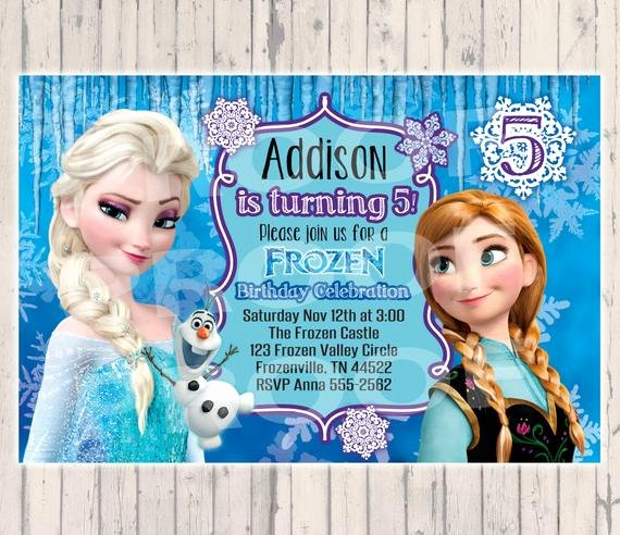 Custom Frozen Birthday Invitations Luxury Frozen Birthday Invitation Digital Copy by Poshpaisleyboutique