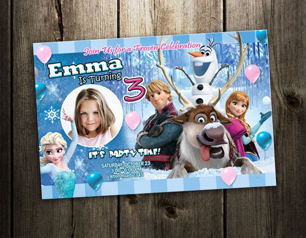 Custom Frozen Birthday Invitations New Frozen Disney Birthday Party Invitation Custom Card Baby
