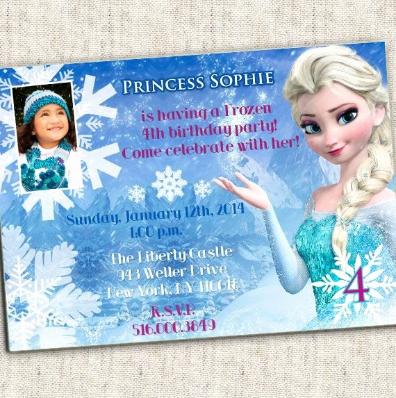 Custom Frozen Birthday Invitations New Make My Own Version Happy Happy Birthday