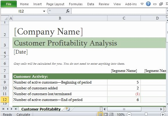 Customer Complaint Template for Excel Beautiful How to Easily Perform A Customer Profitability Analysis In