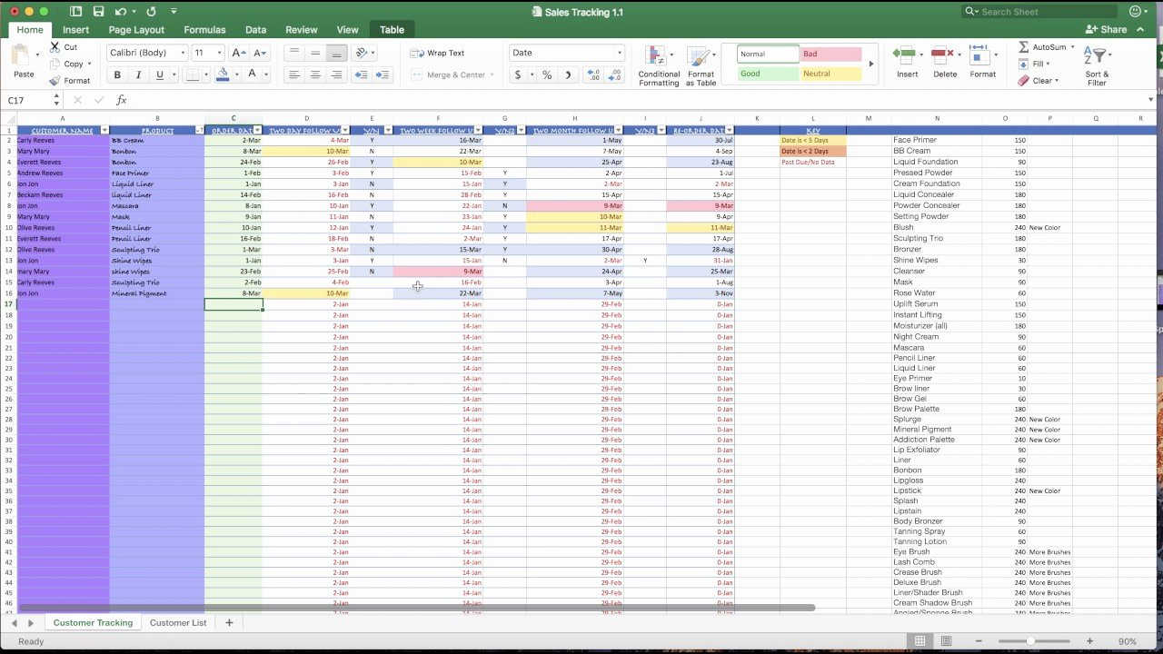 Customer Complaint Template for Excel Best Of Customer Tracking Spreadsheet Demo Pt 1