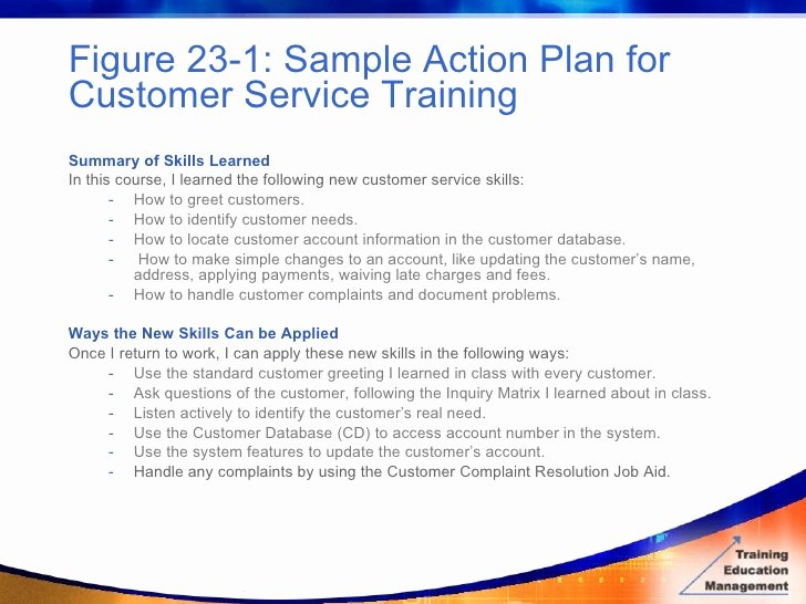 Customer Service Action Plan Examples Best Of Bottom Line Evaluation Measuring Results From
