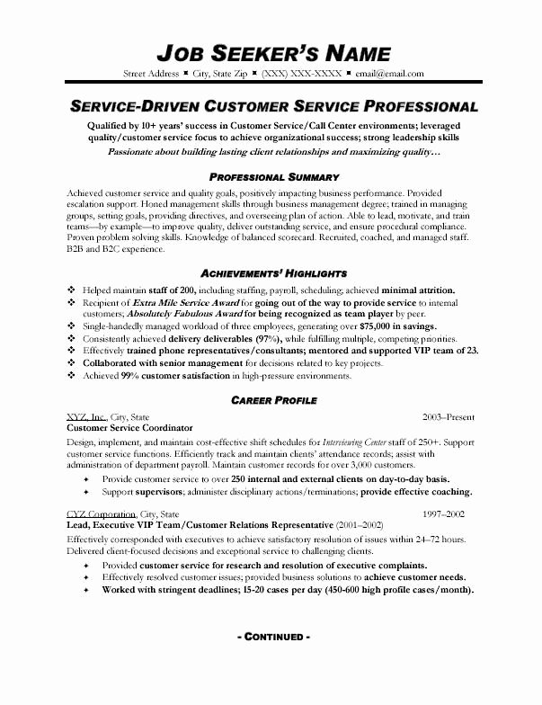Customer Service Action Plan Examples Elegant Customer Service Resume Sample 328 topresume