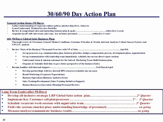Customer Service Action Plan Examples Inspirational 5 90 Day Plan for New Managers Examples Pdf